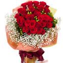 빨강장미안개꽃다발 30C