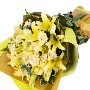 옐로인장미꽃다발 53C