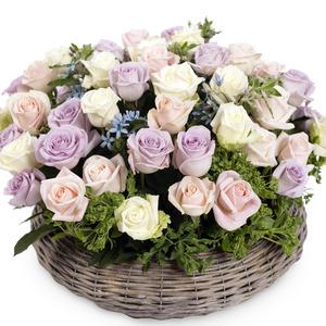 장미혼합꽃바구니 (3일전 예약)