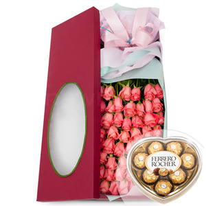 핑크꽃상자(초콜렛)