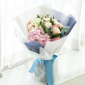 수국장미꽃다발 28C