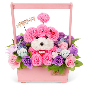 비누꽃분홍푸들 10T